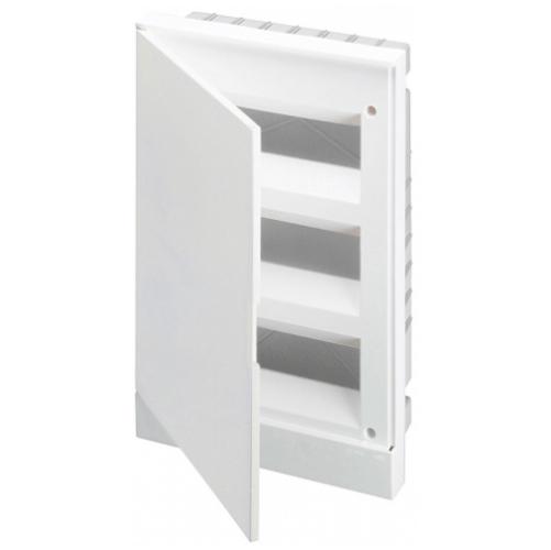 ABB Basic E Бокс в нишу 36М белая непрозрачная дверь (c клеммами), 36 мод. IP40