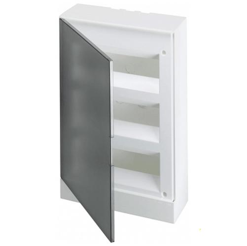 ABB Basic E Бокс настенный 36М серая прозрачная дверь (с клеммами), 36 мод. IP40