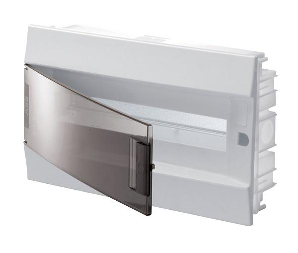 Бокс в нишу ABB Mistral41 18М прозрачная дверь с клеммным блоком