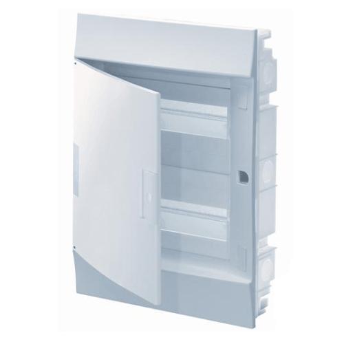 Бокс в нишу ABB Mistral41 36(2х18)М белая дверь с клеммным блоком