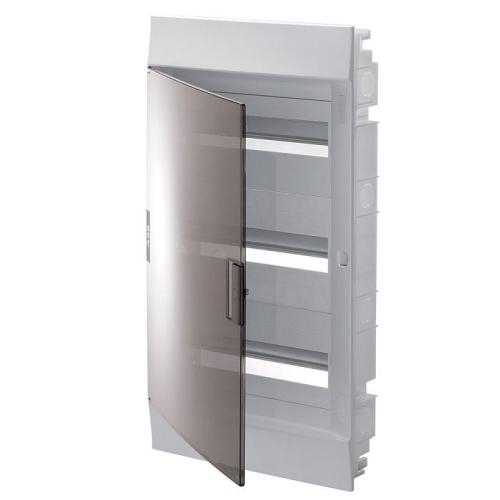 Бокс в нишу ABB Mistral41 36(3х12)М прозрачная дверь с клеммным блоком