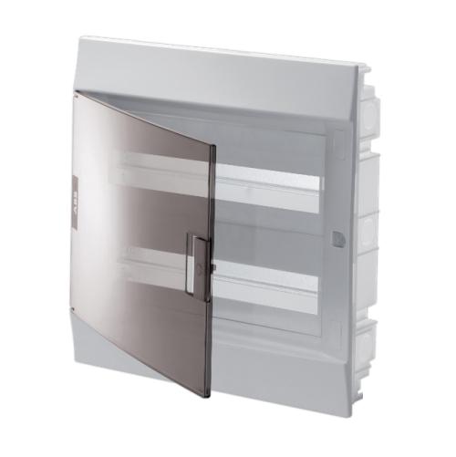 Бокс в нишу ABB Mistral41 36(2х18)М прозрачная дверь с клеммным блоком
