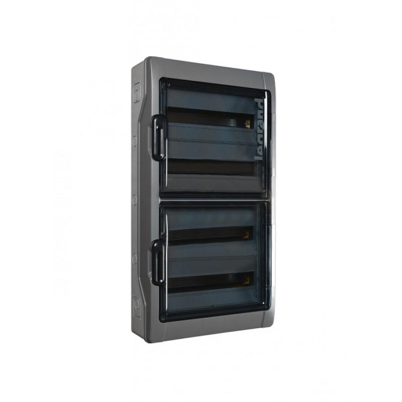 Legrand (Легранд). Щиток Plexo на 72 модуля (Плексо) — IP 65 — IK 09 — 4 ряда — 125 А — 18 модулей 601988