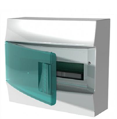 Бокс настенный АВВ Mistral41 18М зелёная дверь с клеммным блоком