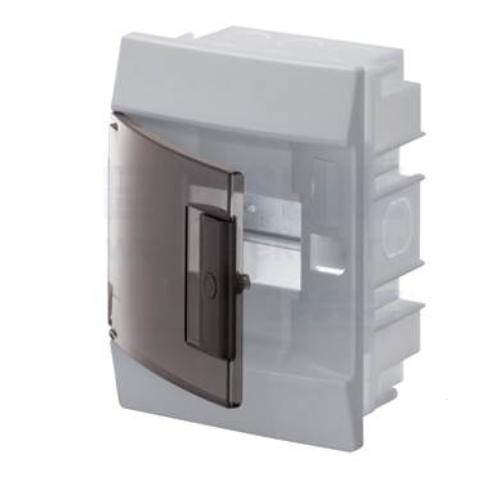 Бокс в нишу ABB Mistral41 4М прозрачная дверь с клеммным блоком