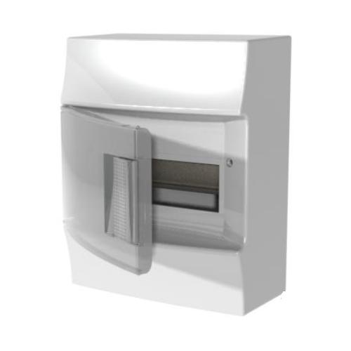 Бокс настенный АВВ Mistral41 8М прозрачная дверь с клеммным блоком