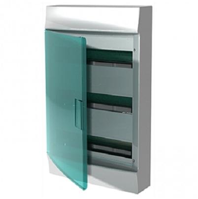Бокс настенный АВВ Mistral41 54М (3х18) зелёная дверь с клеммным блоком