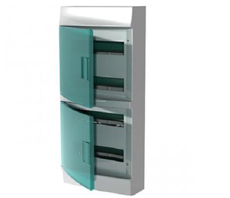 Бокс настенный АВВ Mistral41 72М (4х18) зелёная дверь с клеммным блоком