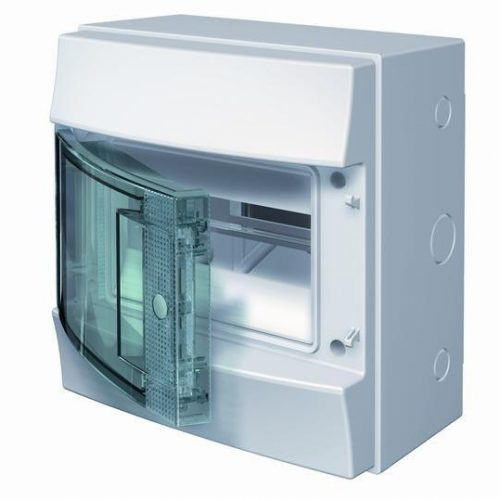 Бокс настенный 8 мод. с прозр. дверцей (без клемм) IP65 ABB Mistral 1SL1201A00