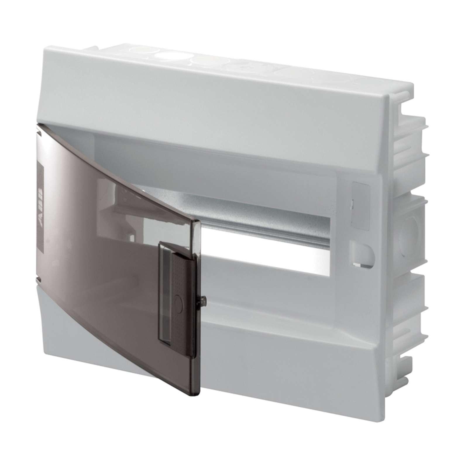 Бокс в нишу ABB Mistral41 12М прозрачная дверь с клеммным блоком
