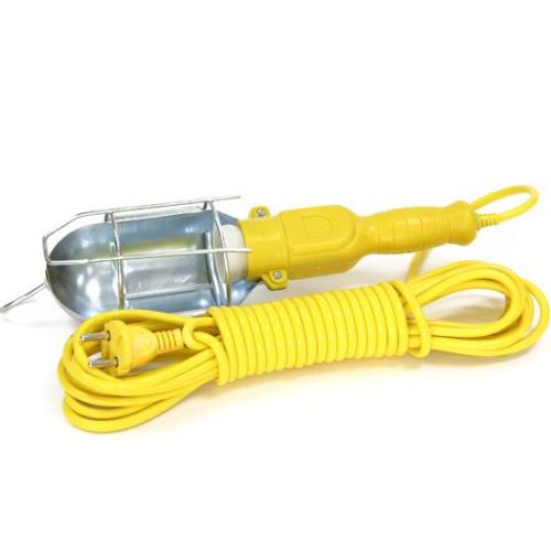 Светильник переноска Е27, 15 метров желтый