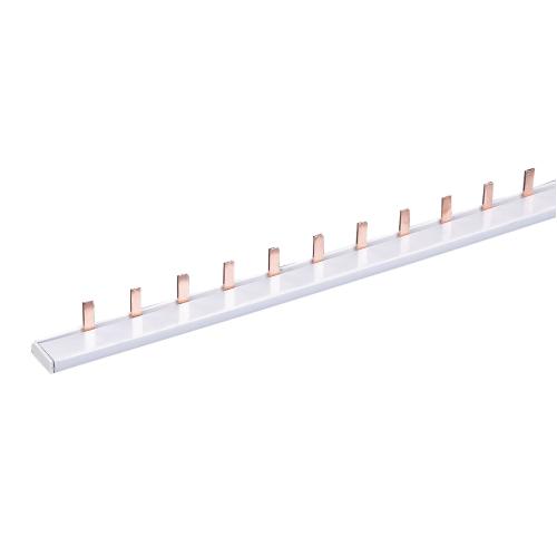 Шина-гребенка IEK типа PIN (штырь), 53 модуля, 1P, 63A, 1м, белый