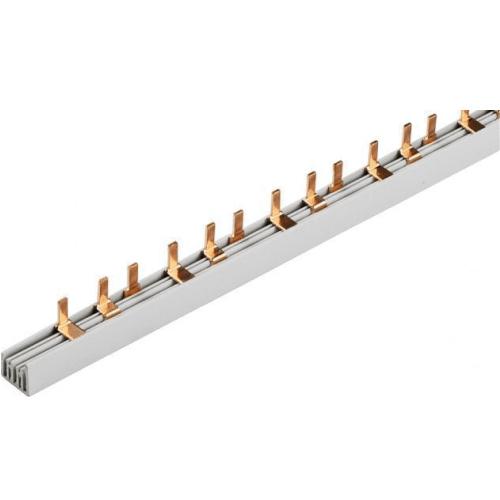 Шина-гребенка IEK типа PIN (штырь), 12 модулей, 3P, 63A, 22см, белый