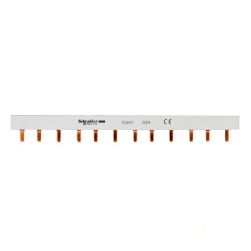 Шина-гребенка Schneider Electric типа PIN (штырь), 12 модулей, 3P, 63A, 22см, белый