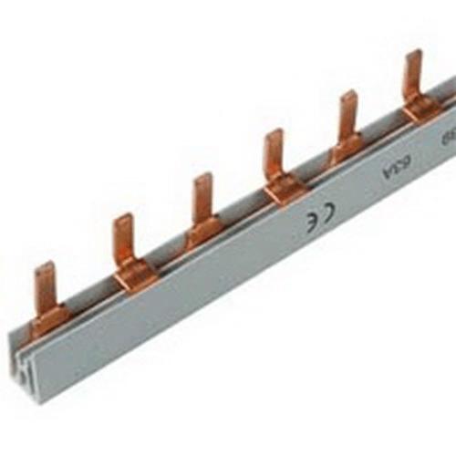 Шина-гребенка IEK типа PIN (штырь), 54 модулей, 2P, 63A, 1м, серый