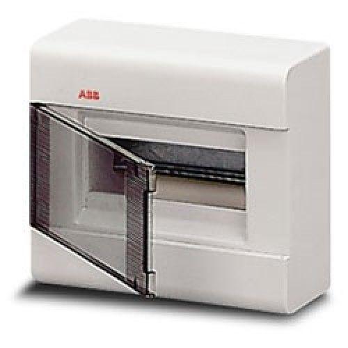 Бокс настенный ABB Europa 8М с прозрачной тонированной дверцей (белый)