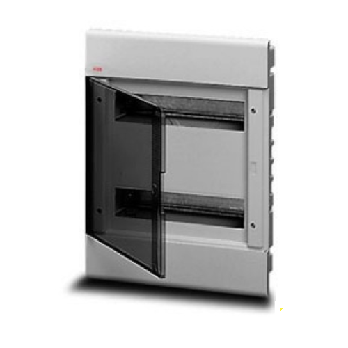 Бокс в нишу ABB Europa 24М с прозрачной тонированной дверцей (серый)