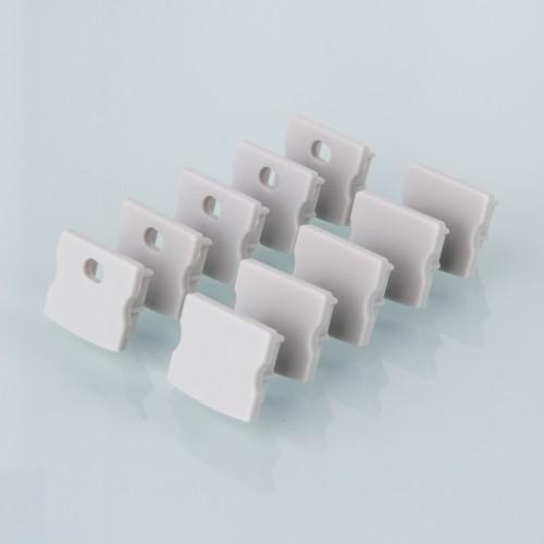 Комплект заглушек для накладного алюминиевого профиля светодиодной ленты (10 пар) ZLL-2-ALP001-R