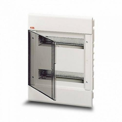 Бокс в нишу ABB Europa 24М с прозрачной тонированной дверцей (белый)