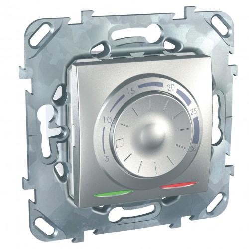 Термостат комнатный, Алюминий, серия UNICA TOP/CLASS, Schneider Electric