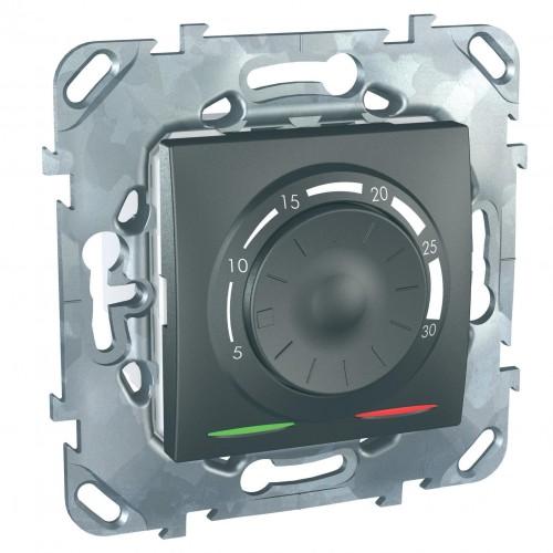 Термостат комнатный, Графит, серия UNICA TOP/CLASS, Schneider Electric