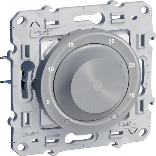 Термостат комнатный, Алюминий, серия Odace, Schneider Electric