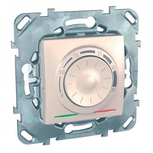 Термостат комнатный, Бежевый, серия Unica, Schneider Electric