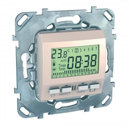 Термостат комнатный программируемый, Бежевый, серия Unica, Schneider Electric