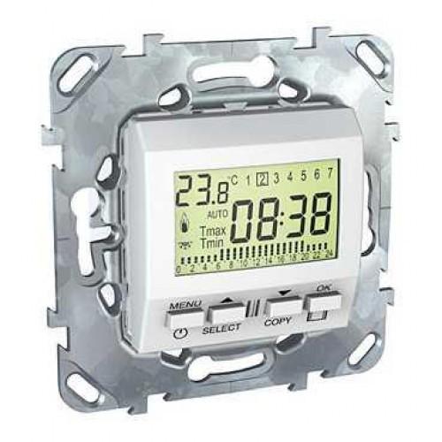Термостат комнатный программируемый, Белый, серия Unica, Schneider Electric