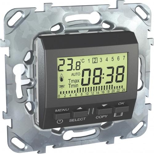 Термостат комнатный программируемый, Графит, серия UNICA TOP/CLASS, Schneider Electric