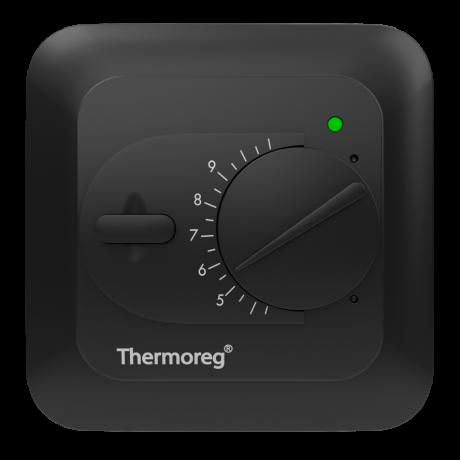 Терморегулятор для теплого пола Thermoreg TI-200 черный