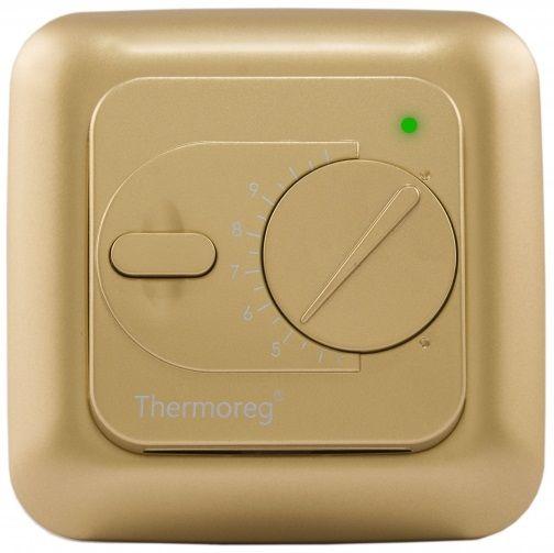 Терморегулятор для теплого пола Thermoreg TI-200 золотой