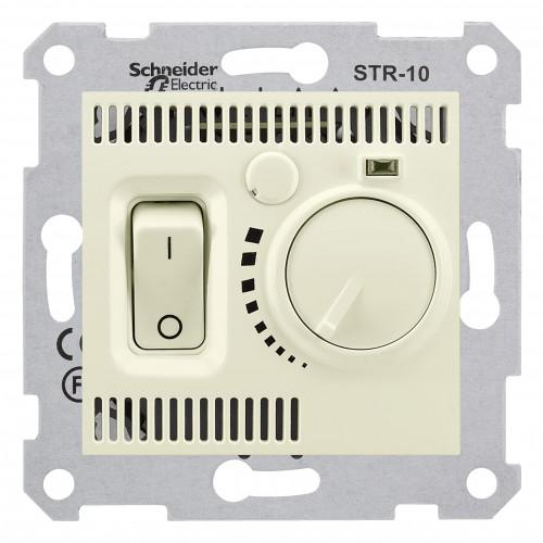 Термостат комнатный, Бежевый, серия Sedna, Schneider Electric