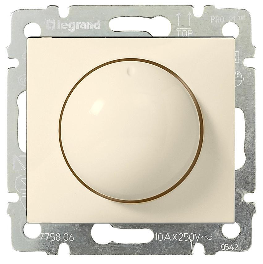 Светорегулятор поворотный 400Вт, слоновая кость 774161 LG