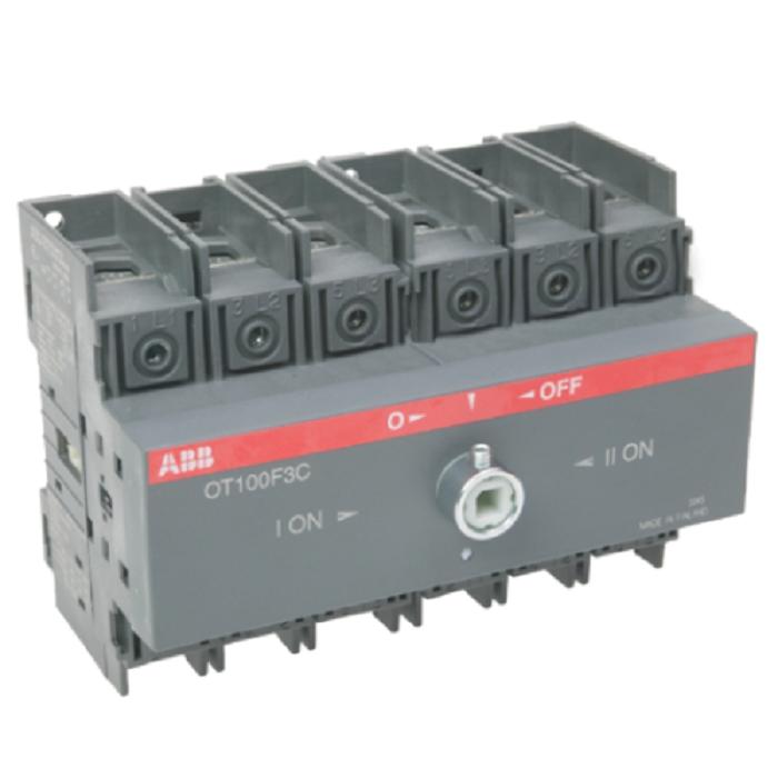 Реверсивный выключатель нагрузки АВВ OT100F3C 3P 100A
