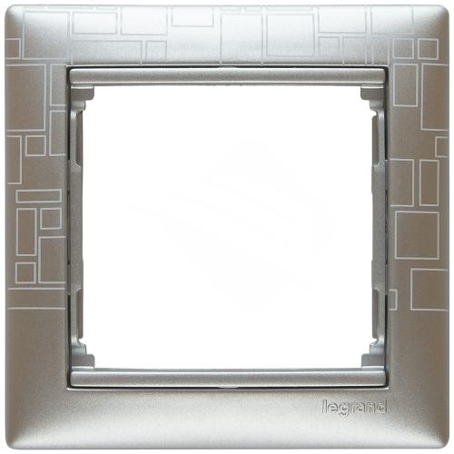 Рамка 1-я, алюминий модерн, универсальная 770341 LG
