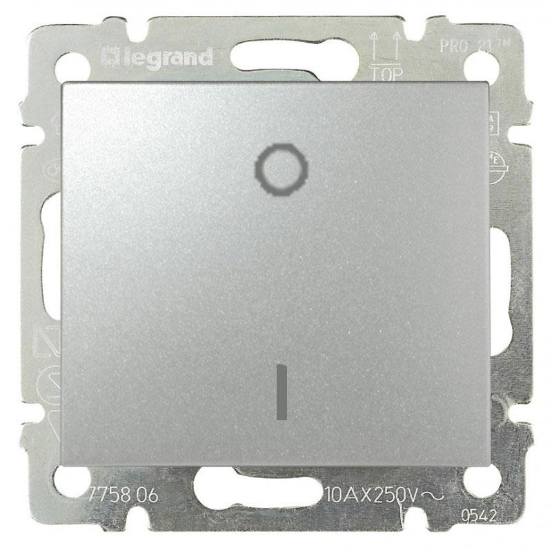 Выключатель 1-но клавишный трехполюсный, алюминий 770103 LG