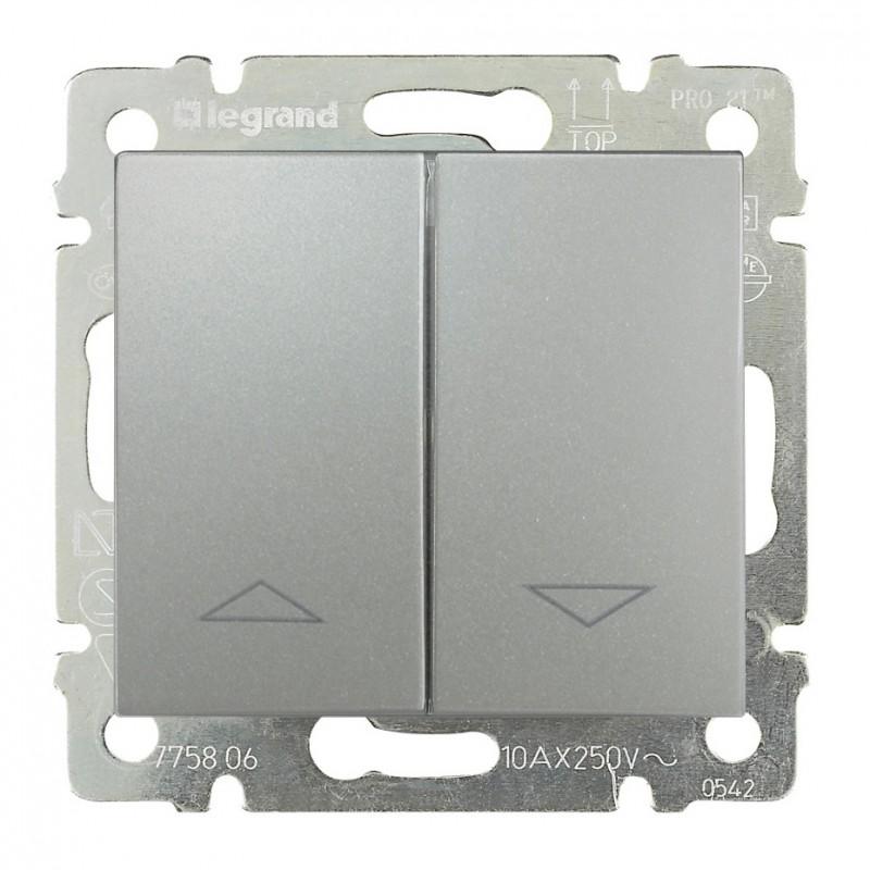 Выключатель жалюзи кнопочный, алюминий 770114 LG