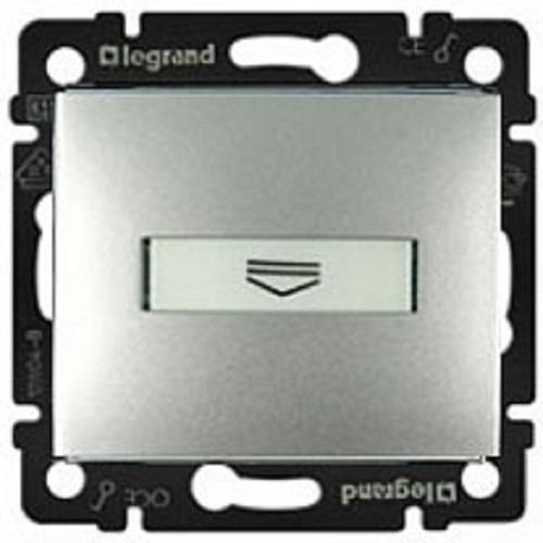 Выключатель с ключ-картой c подсветкой, алюминий 770234 LG