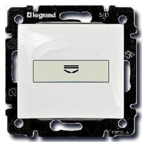 Выключатель с ключ-картой c подсветкой, белый 774234 LG