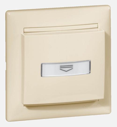 Выключатель с ключ-картой c подсветкой, слоновая кость 774134 LG