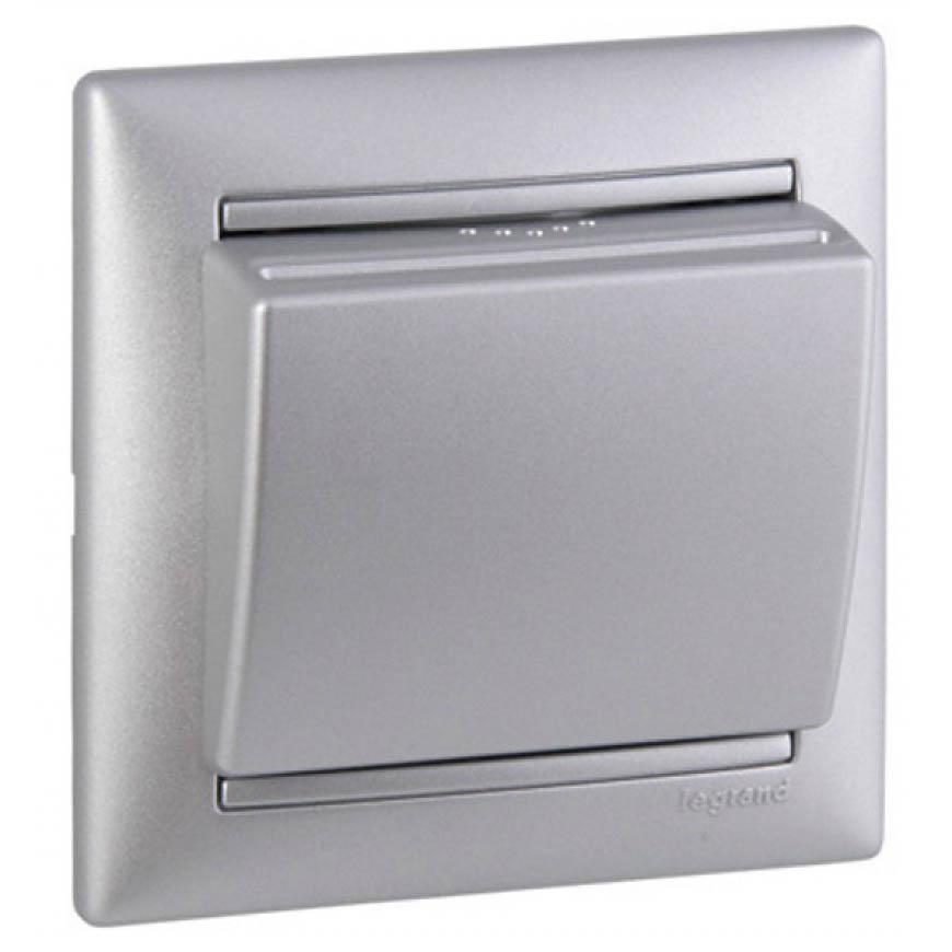 Выключатель с ключ-картой, алюминий 770235 LG