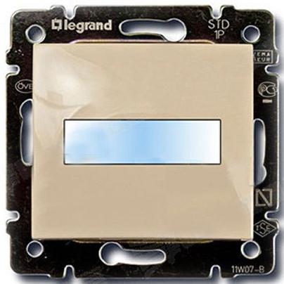 Кнопка 1-но клавишная 1но с полем для надписи с подсветкой, слоновая кость 774117 LG
