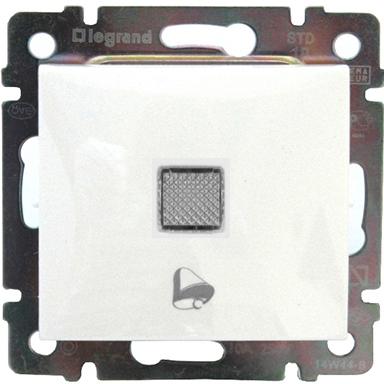 Кнопка 1-но клавишная 1но с символом свет с подсветкой, белый 774413 LG