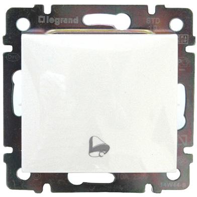 Кнопка 1-но клавишная 1но с символом свет, белый 774412 LG