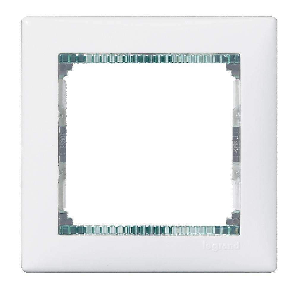 Рамка 1-я, белый/кристалл, универсальная 774461 LG