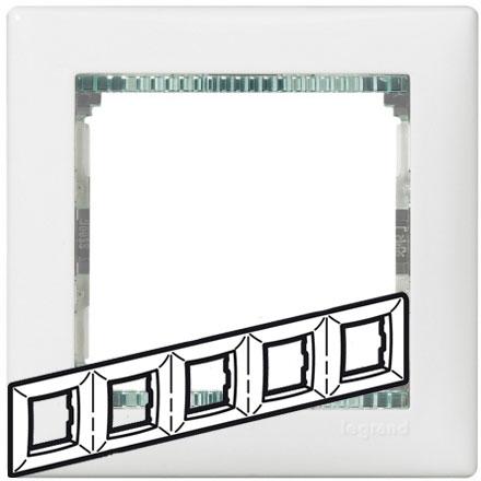 Рамка 5-я, белый/кристалл, универсальная 774465 LG