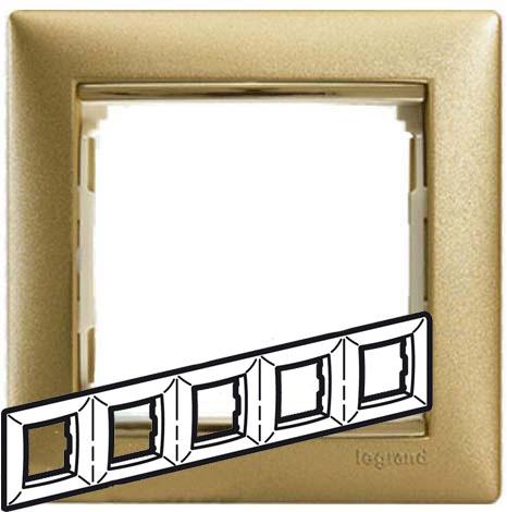 Рамка 5-я, матовое золото, универсальная 770305 LG