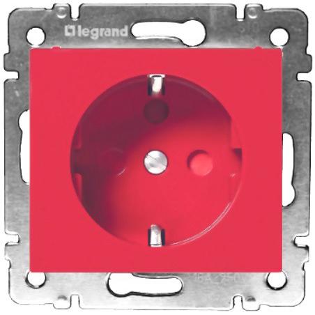 Розетка 2п+З 220В с блокировкой винты, красный 774327 LG