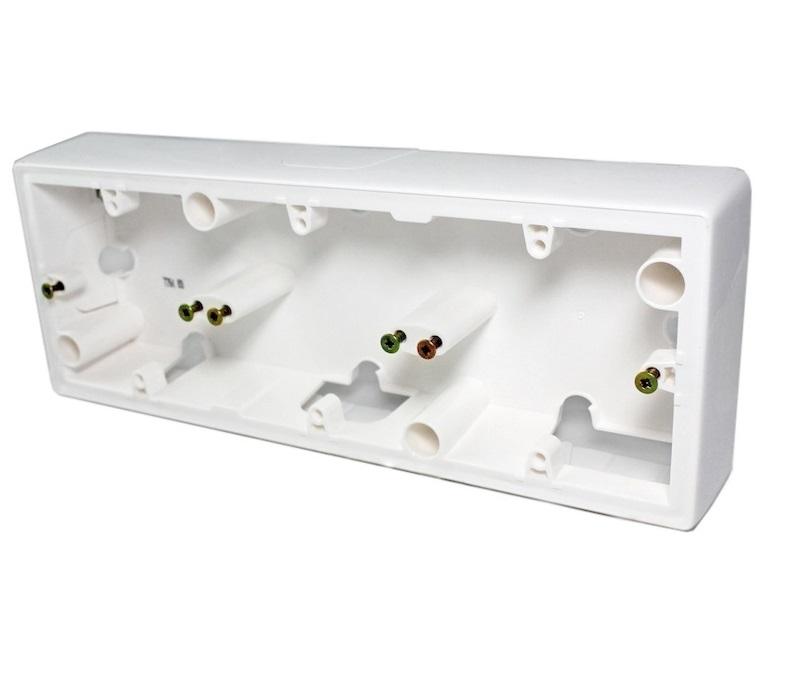 Коробка 3-я без рамки, слоновая кость, универсальная 776133 LG